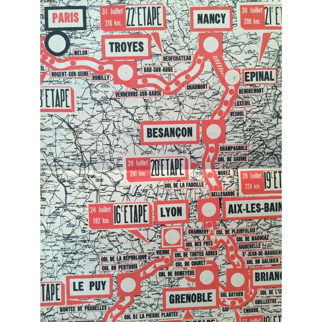 1954 Vintage French Tour De France Map - Image 3 of 6