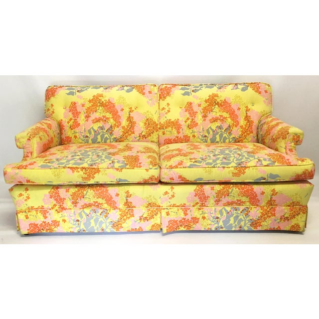 Dorothy Draper Floral Sofa - Image 2 of 6