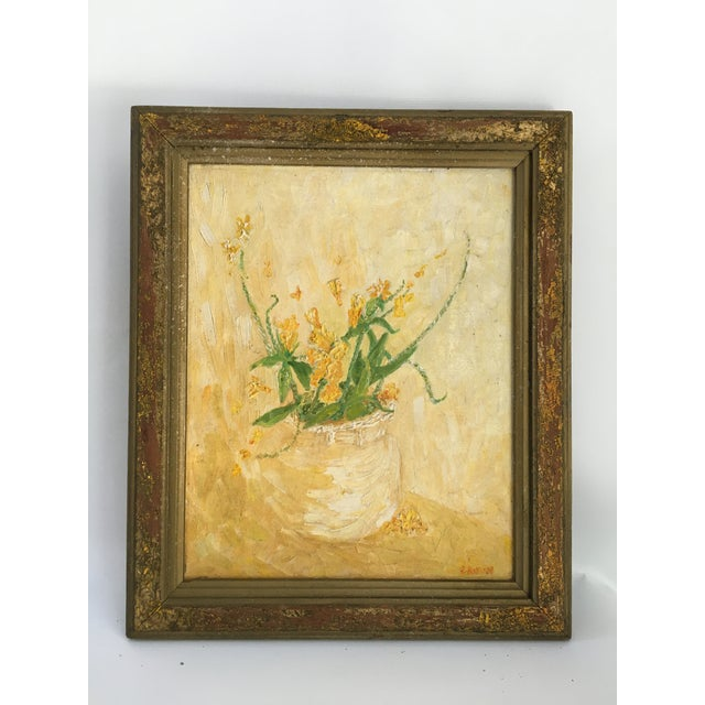 Mid-Century Floral Abstract Original Painting - Image 6 of 6