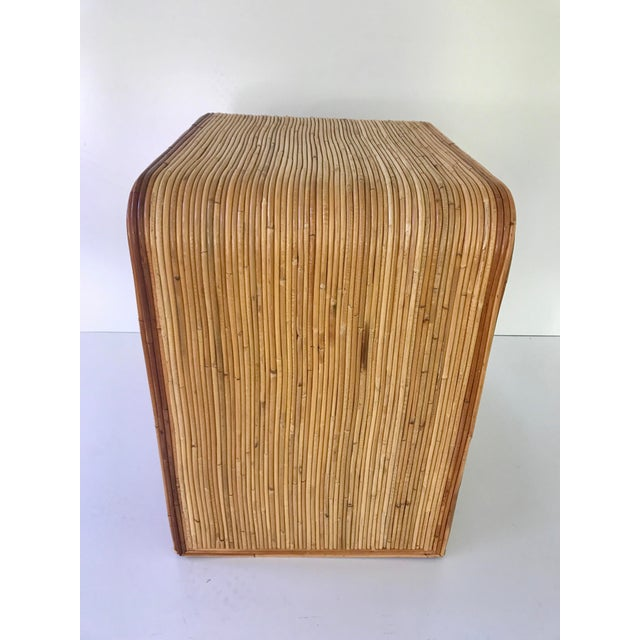 Italian Gabriella Crespi Style Pencil Reed Nightstand For Sale In Charleston - Image 6 of 9
