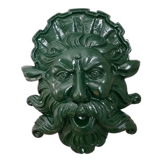 Neptune God of the Sea Sculptural Wall Hanging For Sale