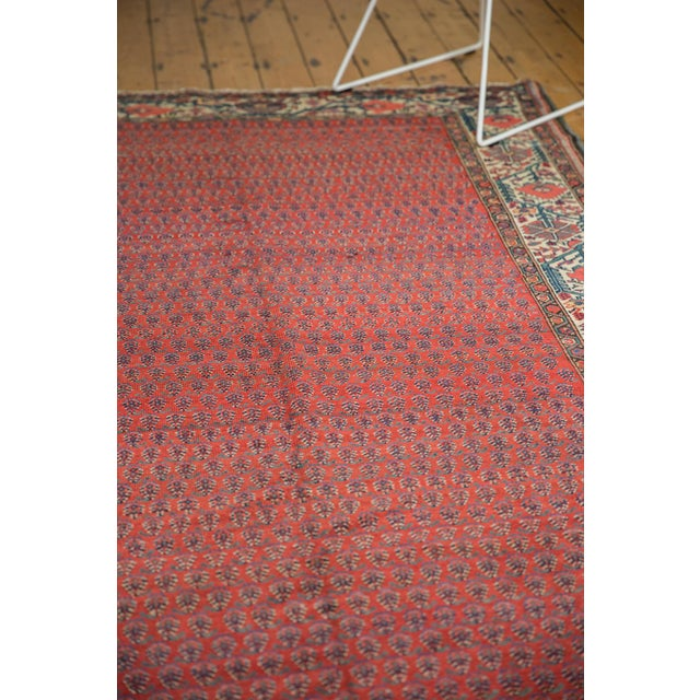 "Green Vintage Malayer Carpet - 5'8"" X 8'5"" For Sale - Image 8 of 12"