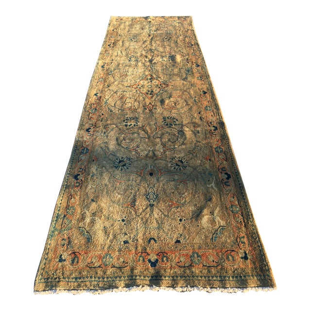 "Vintage Persian Mahal Runner - 3'6"" x 11' - Image 1 of 11"