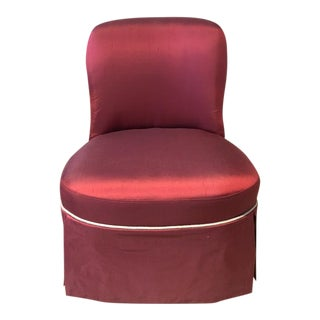 Windsor Smith Jonie Skirted Slipper Chair for Century Furniture For Sale