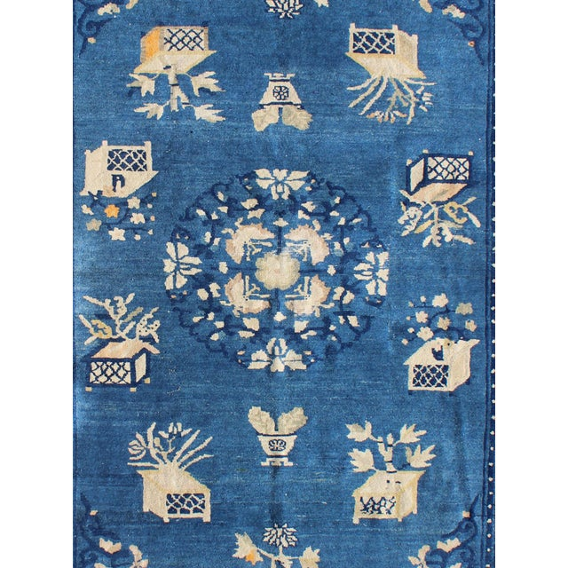 Antique Chinese Peking Rug-5' X 7'9 For Sale - Image 4 of 7