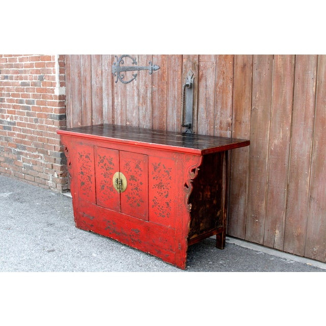 Antique Chinoiserie Lacquer Cabinet For Sale - Image 4 of 8
