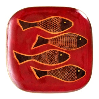 1970s Vintage Miguel Pineda Mexican Fish Tray For Sale