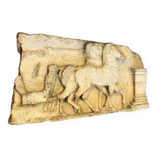 """Large French Plaster Cast Relief of a Partial Image From the """"Temple of Siphnos"""" Greece For Sale"""
