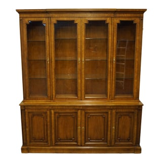 """Kindel Rapids Provence Collection Italian Provincial 70"""" Buffet with Lighted China Cabinet - 46-24-18/46-54-18 For Sale"""
