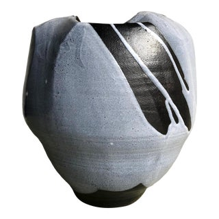 Large Periwinkle Studio Pottery Vase For Sale