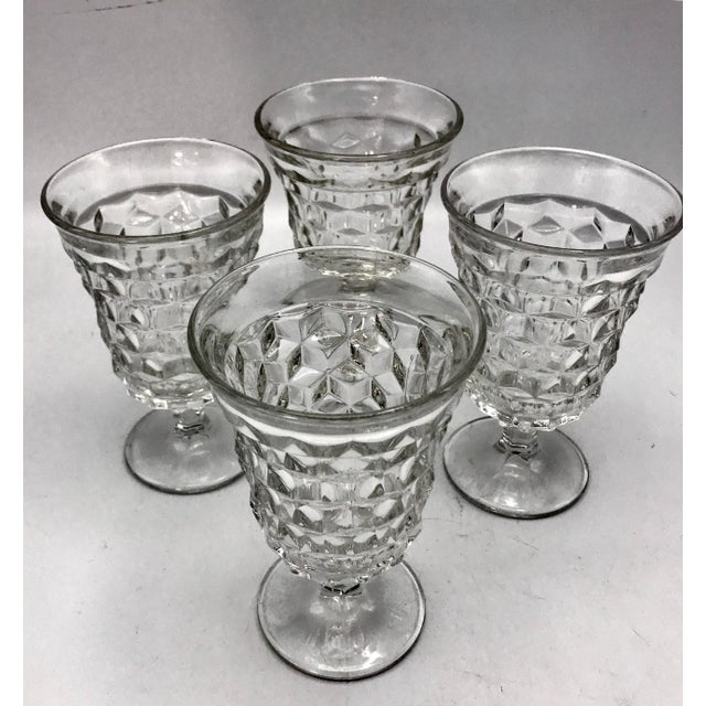 American Classical Fosteria American Crystal Clear Goblets - Set of 4 For Sale - Image 3 of 7