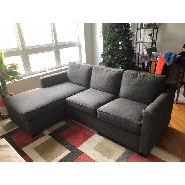 Modern Crate & Barrel Lounge II Petite 2-Piece Sectional Sofa For Sale - Image 3 of 6