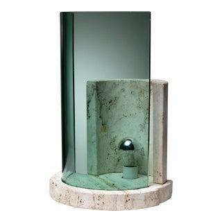Travertine Table Lamp by Giuliano Cesari for Sormani For Sale