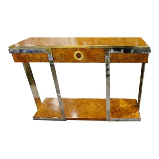 Pierre Cardin Burlwood Console Table