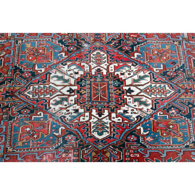 1920s Large Heriz Rug - 11′4″ × 14′1″ For Sale - Image 4 of 11