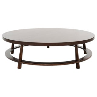 t.h. Robsjohn-Gibbings for Widdicomb Round Walnut Cocktail Table, 1951 For Sale