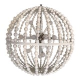 Image of White Circular Modern Chandelier For Sale