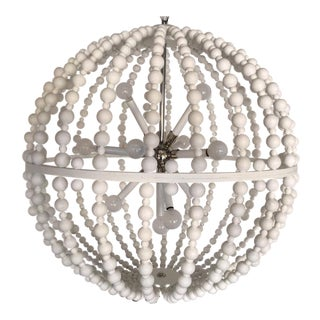 White Circular Modern Chandelier For Sale