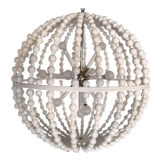 White Circular Modern Chandelier For Sale