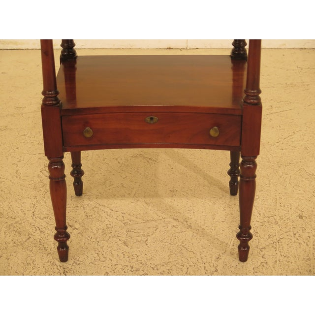 1980s Traditional Statton Solid Cherry 1 Drawer Nightstand Table For Sale In Philadelphia - Image 6 of 9