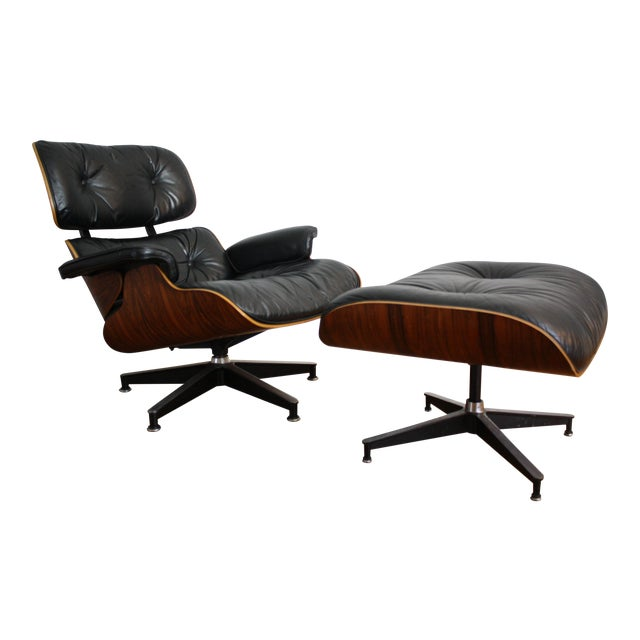 Charles and Ray Eames for Herman Miller 670 & 671 Rosewood Lounge Chair - a Pair - Image 1 of 11