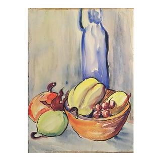 Jerry Opper Mid Century Still Life Gouache Painting