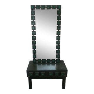 1960's Vanity Table & Mirror by Ab Glas & Trä For Sale