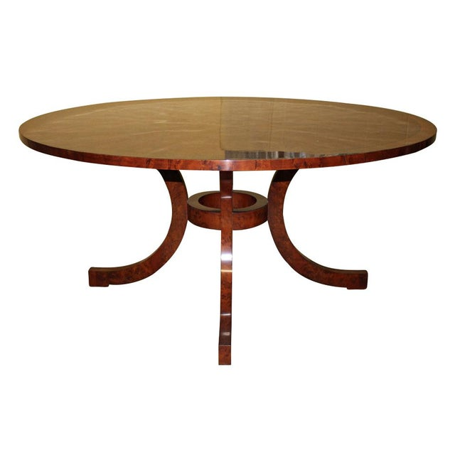 American Classical Yew Wood Dining Table For Sale