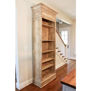 Tall Contemporary Aged Wood Bookcase Preview