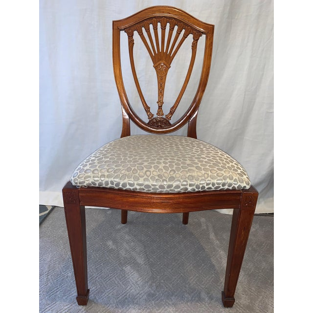 1980s Hepplewhite Style Dining Chairs- Set of 10 For Sale - Image 5 of 13