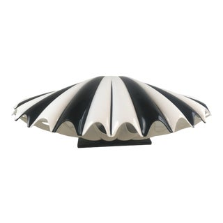 Midcentury Lucite Rougier Clam Shell Lamp For Sale
