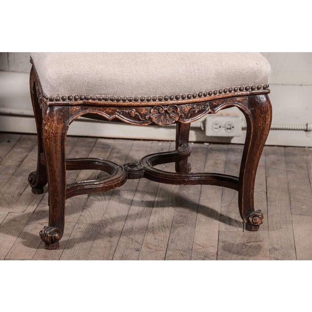 Pair of 19th Century Régence Style Side Chairs in Oak - Image 8 of 10