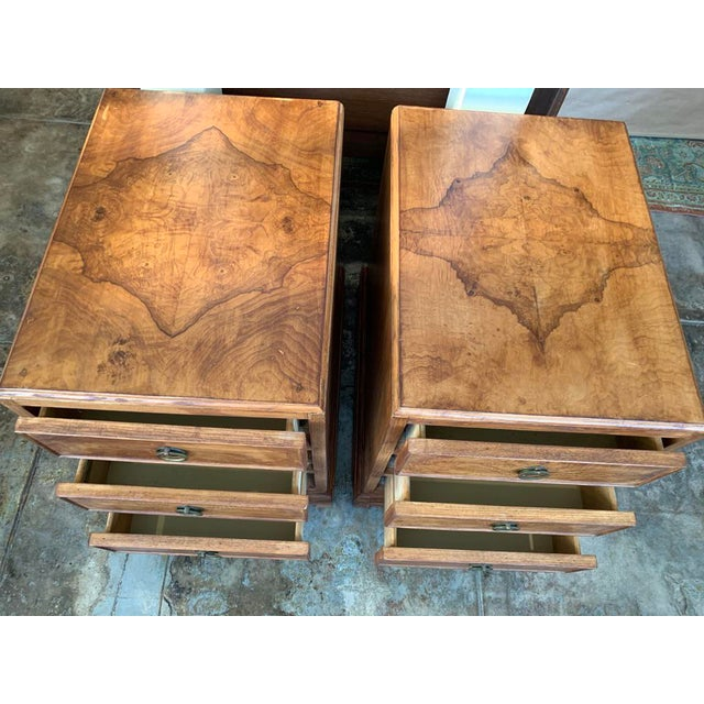 1960s Mid-Century Modern Burl Wood American of Martinsville - a Pair For Sale - Image 9 of 11