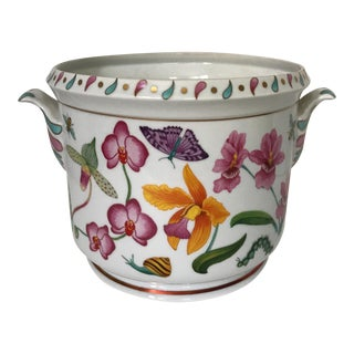 Lynn Chase 'Orchids Only' Cachepot For Sale