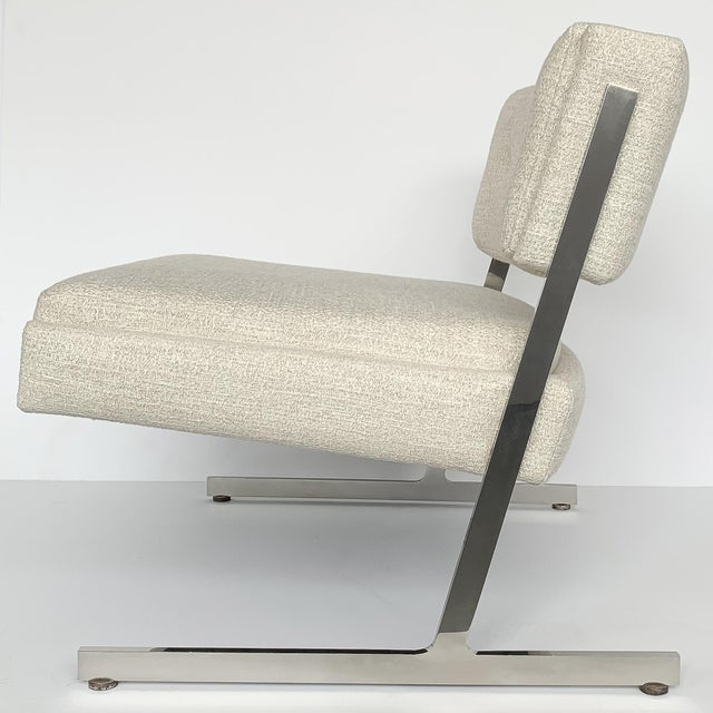 White Pair of Harvey Probber Cantilever Slipper Lounge Chairs For Sale - Image 8 of 13