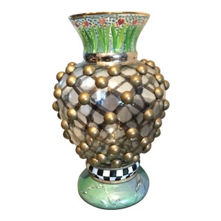 Mackenzie Childs Hand Painted William Vase For Sale