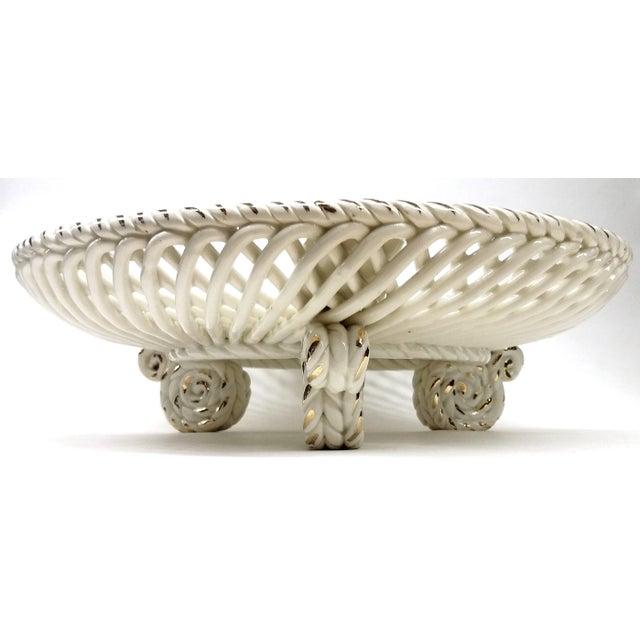 Spanish Lattice Weave Ceramic Dish - Image 9 of 11