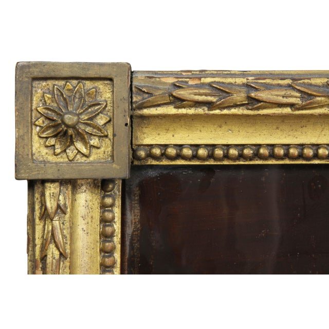 Early 19th Century Dutch Neoclassic Giltwood and Reverse Painted Mirror For Sale - Image 5 of 8