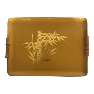 Yellow & Gold Chinoiserie Serving Tray