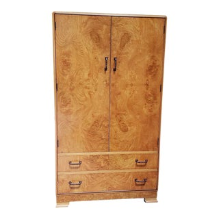 Burl Walnut Art Deco Tallboy C.1940s For Sale