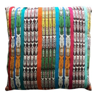 Folk Art Luxe Vintage Ikat Moroccan PIllow For Sale
