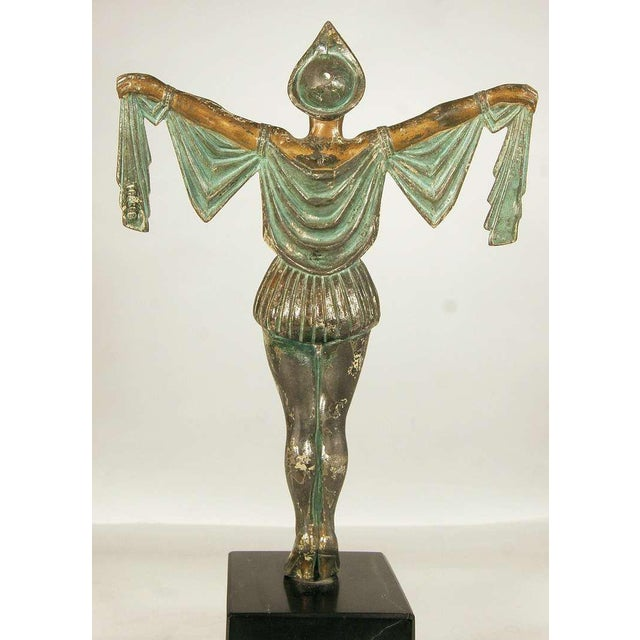 Art Deco Flapper Erotic Dance Spelter Female Statue For Sale - Image 5 of 6