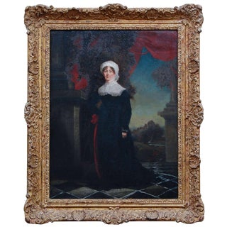 Oil on Canvas Portrait of a Regency Lady For Sale