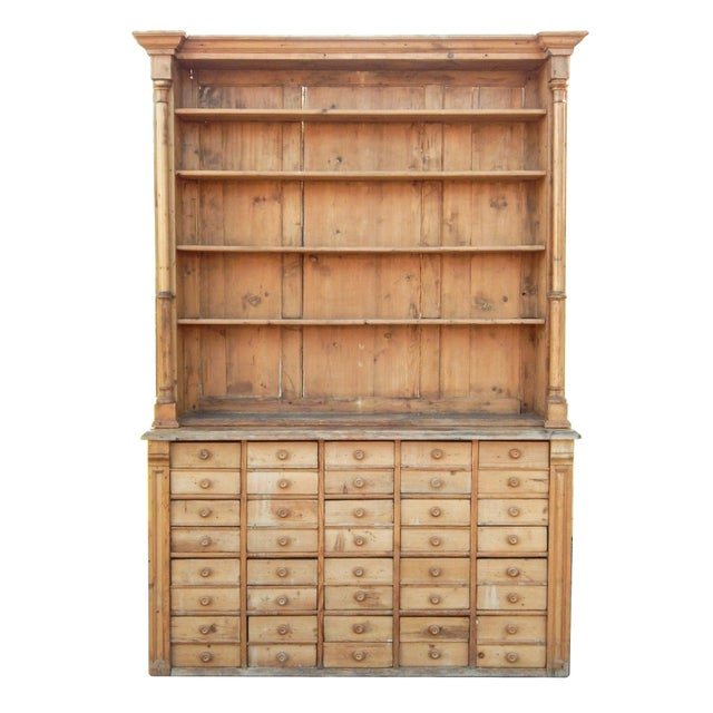 Tan Unusual Pine Hutch For Sale - Image 8 of 8
