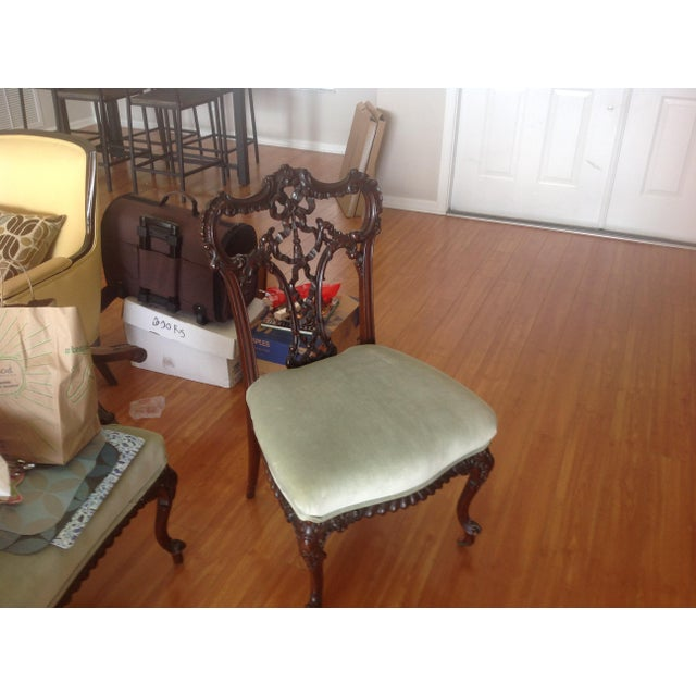Chippendale Settee and King and Queen Chairs - Set of 3 - Image 2 of 11