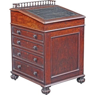 English Late Regency Period Davenport Desk For Sale