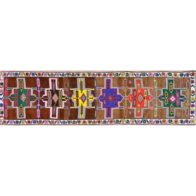 Vintage Kurdish Runner Rug - 2'10''x10'10'' For Sale - Image 4 of 4
