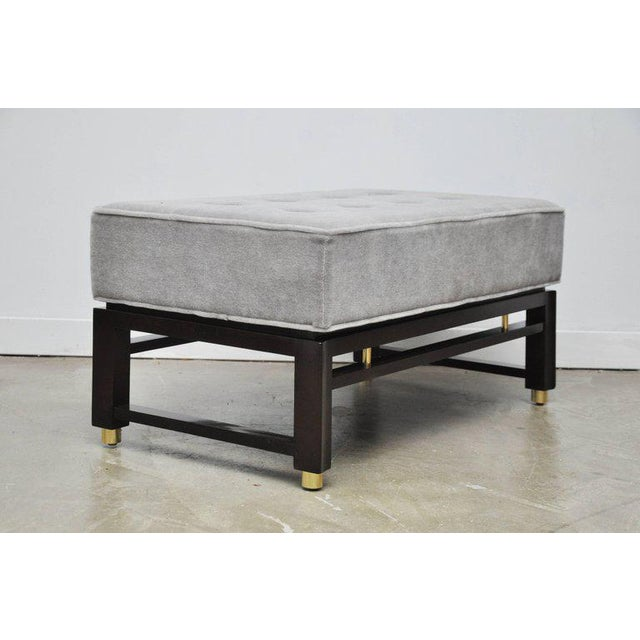 Mid-Century Modern Dunbar Benches by Edward Wormley with Brass Accents For Sale - Image 3 of 7