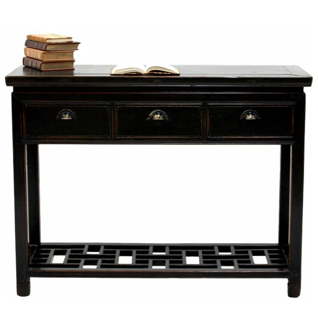 Antique Sarreid LTD Ming Style Wood Console Table - Image 2 of 3