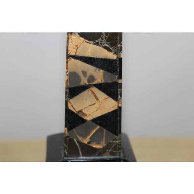Vintage Maitland-Smith Snakeskin Stone Obelisks - A Pair For Sale - Image 6 of 13